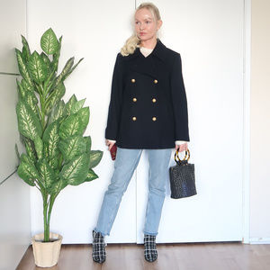 J. Crew Majesty navy pea coat